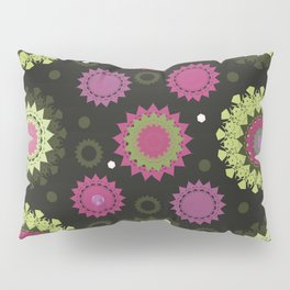 Mandala and Jeweled Flowers vector Pillow Sham