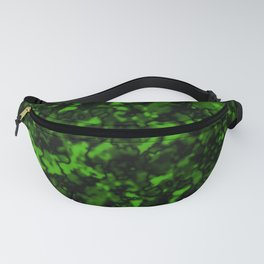 A gloomy cluster of green bodies on a dark background. Fanny Pack