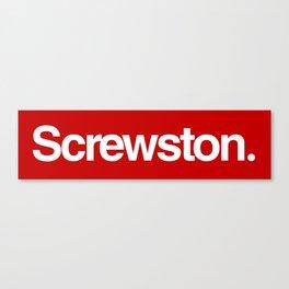 Screwston. Canvas Print
