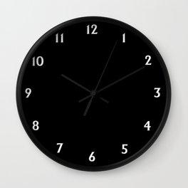 Solid Black Wall Clock
