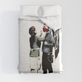 Banksy, Anarchist Punk And His Mother Artwork, Posters, Prints, Bags, Tshirts, Men, Women, Kids Comforters
