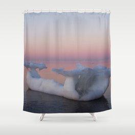 Viking Ice Ship Shower Curtain