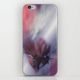 window curtain with flowerpower -2- iPhone Skin