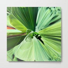 416 - Abstract Plant Design Metal Print