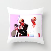 snk Throw Pillows featuring SNK Broken Boys by rhymewithrachel
