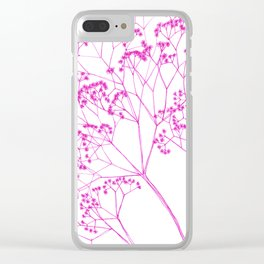 Elegant, boho floral drawing. Clear iPhone Case