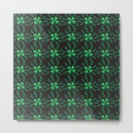 Floral green Metal Print