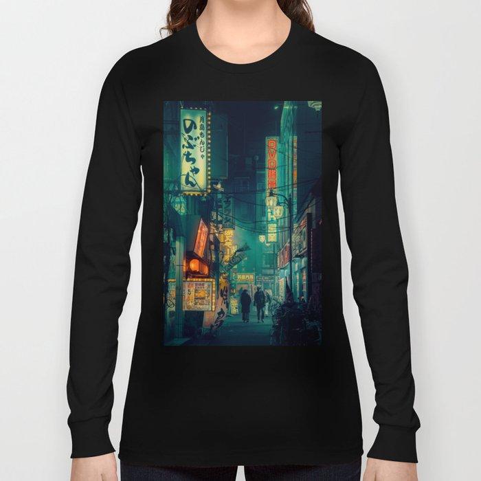 Tokyo Nights / Memories of Green / Blade Runner Vibes / Cyberpunk / Liam Wong Long Sleeve T-shirt