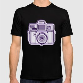 I Still Shoot Film Holga Logo - Reversed Deep Purple T-shirt