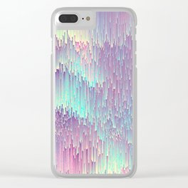 Iridescent Glitches Clear iPhone Case