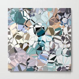 Abstract Geometric Shapes Metal Print