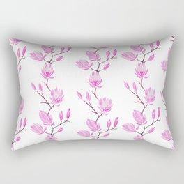 Magnolia - White Rectangular Pillow