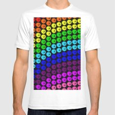 Chase the rainbow White MEDIUM Mens Fitted Tee