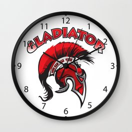 Gladiator helmet Wall Clock