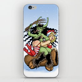 Krampus Spanking iPhone Skin