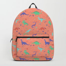 Dinosaurs in Coral Space Backpack