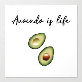 Avocado is Life Canvas Print