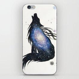 Milky Way Galaxy Wolf iPhone Skin
