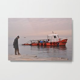 The old and the Boat Metal Print