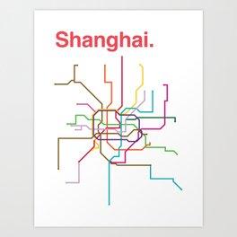 Shanghai Transit Map Art Print