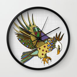 jewel eagle white Wall Clock
