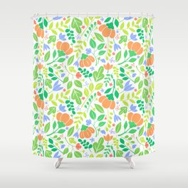 Lacy Floral Color Pattern Shower Curtain