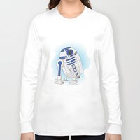 r2d2 Long Sleeve T-shirts featuring R2D2 by Lalu - Laura Vargas