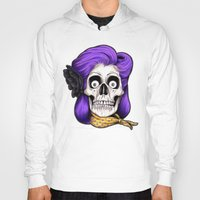 rockabilly Hoodies featuring Rockabilly Skull by Mark Matlock