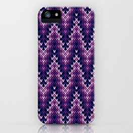 Knitted Seamless Background iPhone Case