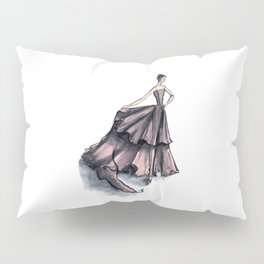 Audrey Hepburn in Pink dress vintage fashion Pillow Sham