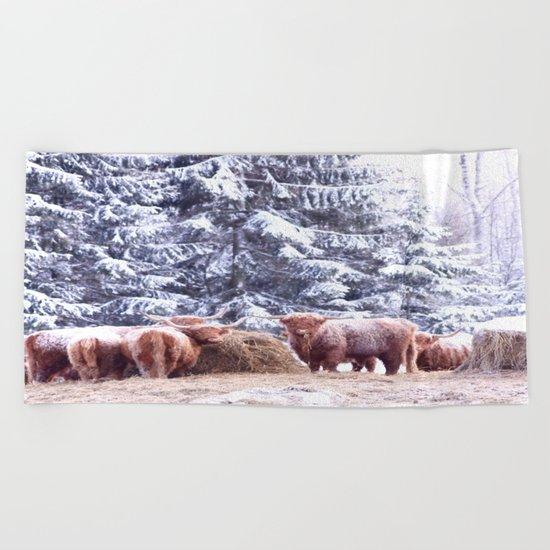 West Highland Cattle Beach Towel