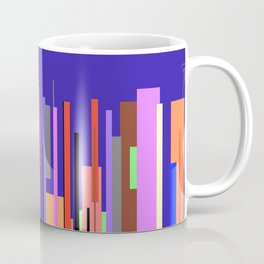 Modern City Scape with Bright Colored Buildings Coffee Mug
