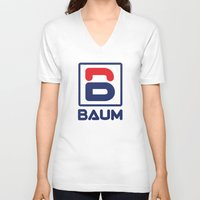 tenenbaum V-neck T-shirts featuring Richie 'Baum' Tenenbaum T-Shirt by Tabner's