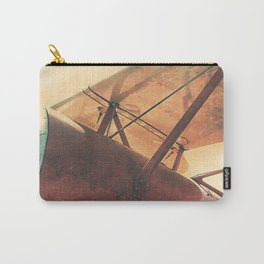 Take Flight // Antique Airplane Carry-All Pouch