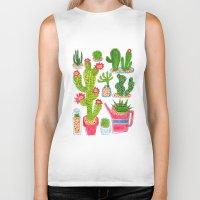cactus Biker Tanks featuring Cactus by Hui_Yuan-Chang