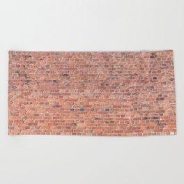 Plain Old Orange Red London Brick Wall Beach Towel