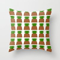 pineapples Throw Pillows featuring Pineapples by Justbyjulie