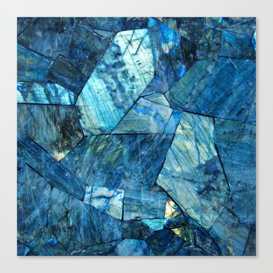 Labradorite Blue Canvas Print