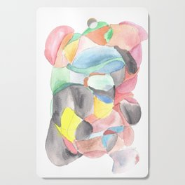 Life and Meaning 2| Abstract Watercolors Cutting Board