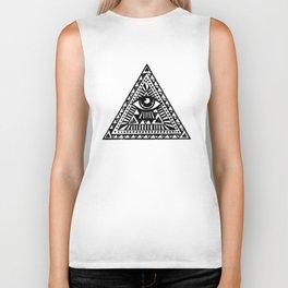Aztec Illuminati Eyes Fashion Tumblr Vest Tank Top Men Women Unisex illuminati Biker Tank