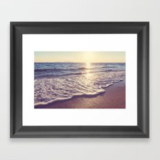 Beach landscape Framed Art Print