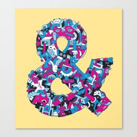 ampersand Canvas Prints featuring Ampersand by Mister Phil