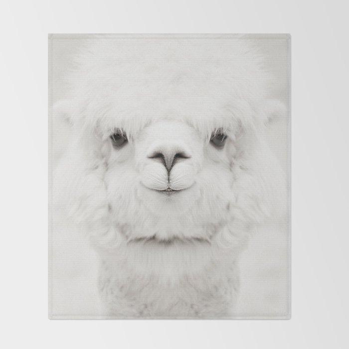 SMILING ALPACA Throw Blanket