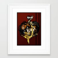 "tyrion Framed Art Prints featuring Reverse roleplay: Of Shadow and Gold by Barbora ""Mad Alice"" Urbankova"