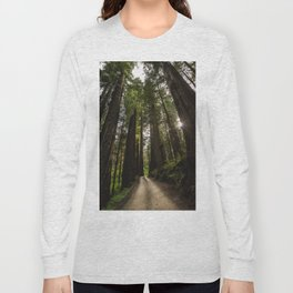 Redwoods Make Me Smile - Nature Photography Long Sleeve T-shirt
