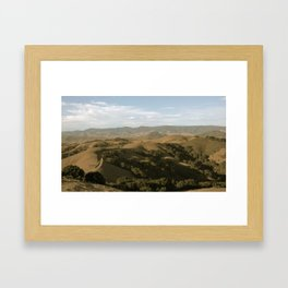 Central Coast Mountaintops Framed Art Print