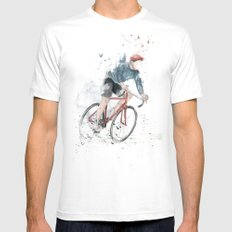 I want to ride my bicycle Mens Fitted Tee White SMALL