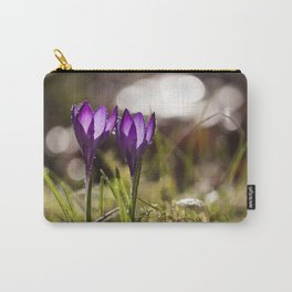 Crocuses at early backlight Carry-All Pouch