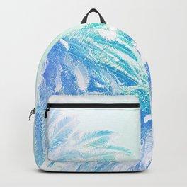 Dreamy and Fresh Palm Blues - Blue and Aqua Backpack