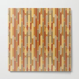 Tabs in Burnt Orange, Rust, Yellow and Tan Metal Print